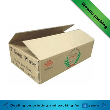 Corrugated fruit and vegetables shipping paper box