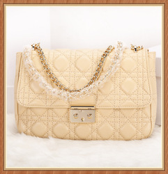 Lambskin Quilted Chain Bag for women Fashion Genuine Leather Chain Bag Wholesale