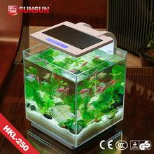 SUNSUN new patent nano view fish tank indoor fish farming tanks for sale