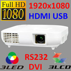 3 LED 3LCD 1080p full hd projector/proyector/projektor/teilgeoir/projecteur/projektori/proiector/projektorn/proiettore/proyektor