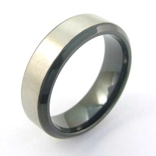 Matte Finish Stainless Steel Ring Jewelry