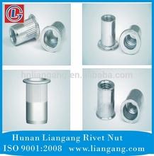 fixing fastener on sheet material-rivet nut