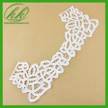 Vintage Cotton Lace Collar Necklace Applique in Ecru for Wedding Costumes Altered Couture KK1871