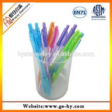 China factory wholesale transparent plastic ballpoint pen