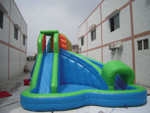 Commercial hotselling hippo inflatable water slide for adults