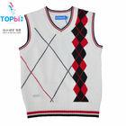 boys fancy sweater V-neck vest