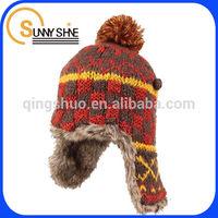 Sunny shine custom cheap winter padded helmet ski helmet knit hat