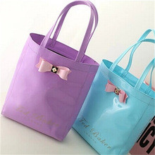 trendy colorful jelly candy pvc plastic shopping bag