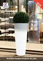Led decoração do jardim potes de plástico para plantas de viveiro
