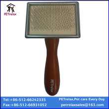 (S) PR80021 stainless steel soft bristle brushes 2014 new pet products of dog grooming brush