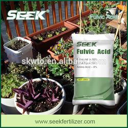 Fulvic acid fertilizer organic hydroponic nutrients