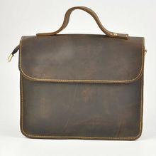 brc5121 vintage western style fashion man leather bag business office bag handbag