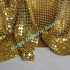 4mm Brilliant Sequins Gold Metallic Mesh Fabric For Modern Curtain