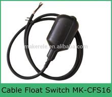 Liquid Water Level Horizontal mini cable Float Switch for Aquarium,water tank level indicator,pump float switch MK-CFS16