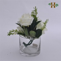 Clear cylinder glass vase, wholesale cheap glass bowl