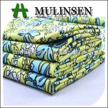 Mulinsen Textile High Quality Plain Custom Flower Printed Stretch 40S Poplin Spandex Cotton Woven Fabrics