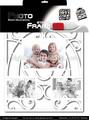 Engraçado adesivo de parede Picture Frame foto