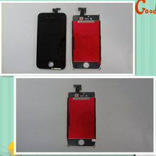 Wholesale touch digitizer lcd display screen assembly +frame +dust mesh for iphone 4/4s