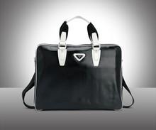 soft Executive Nappa Leather Zip Briefcase 14 inch laptop bag shoulder bag