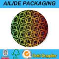 Impresos personalizados de plástico/de papel a prueba de agua auto adhesivo rollos de etiquetas