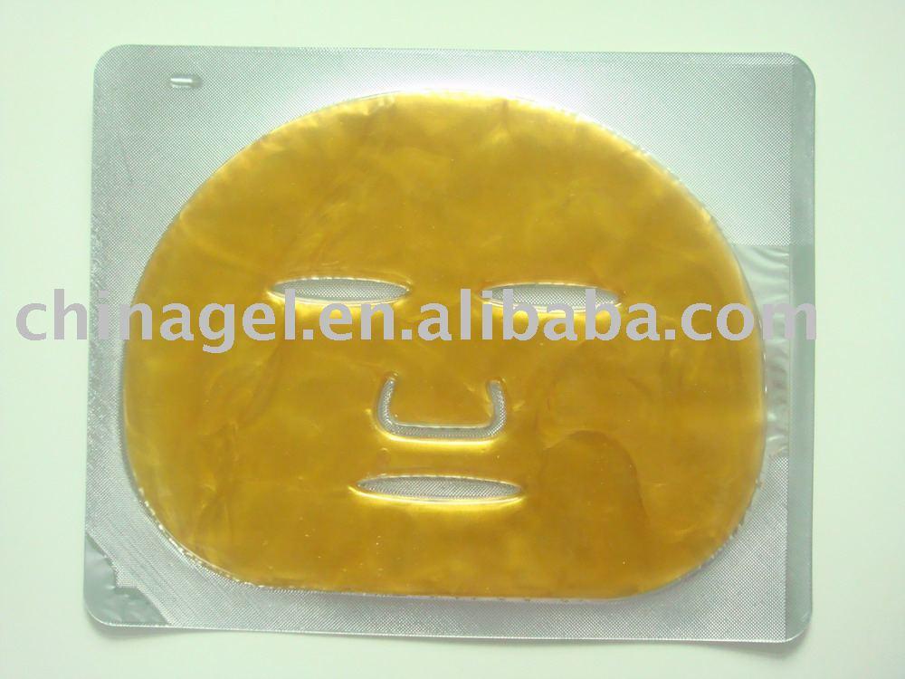 24 K absorbente oro papel de colágeno de la mascarilla facial