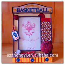 china factory ODM & OEM fashion polyresin basketball photo frame