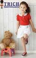 de encaje vestido de niña de color rojo