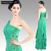DORISQUEEN drop shipping new arrival a line one shoulder hong kong evening dress wholesale