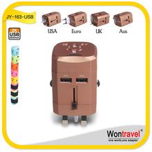 JY-163 beauty England dual usb adapter
