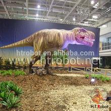 Parque de atracciones simulación dinosaurios mecánicos