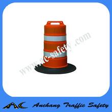 Traffic barrel channelizer drum