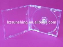 standard size hot sale popular cd case clear/black 7.5mm cd box