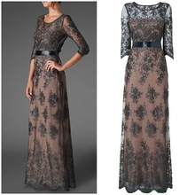 OEM Custom-made China alibaba supplier arabic isliam maxi women evening dresses lace embroidered woman wholesale clothing