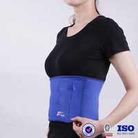 Neoprene elastic heat wrap for waist Adjustable back support cushion