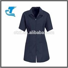 Women's Zip-Front Smock - Navy
