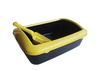plastic pet litter box + scoop for cat,Big round cat litter pan with new scoop