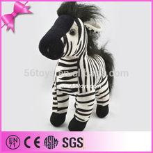 Custom cheap animal toy,stuffed zebra toy for kids