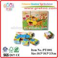 los niños 3d cubo de madera jigsaw puzzle