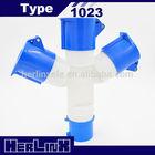 Industrial Power Multiple Plug Socket CEE 1023 32A 2P+E 220V IP44 1 Plug 3 Sockets