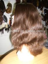 Pretty wavy indian women hair wig reemplazo de cabello hair piece hair replacement for women