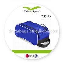 senior 420D polyester blue golf shoe tote bag