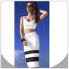 Bodycon bandage white for women dress sexy new fashion ladies dress