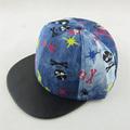 Ajustable cadera-hop nueva personalidad al por mayor de corea gorra de béisbol infantil sombrero de pirata tapa del cráneo