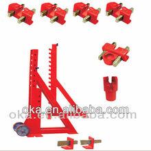 OKA Collision Repair floor system on ground F1/CE car frame machine