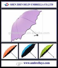 custom shape folding rain umbrella science promotional item