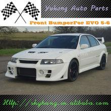 FOR Mitsubishi EVO 6 DAMD Style FRP Front Bumper In Black