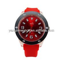 sport quartz lady watch silicone wristband