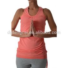 95% cotton 5% spandex custom womens tank top wholesale yoga clothing