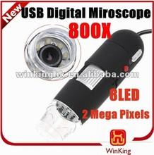 800X USB Portable Digital Microscope Mini microscope PC camera software