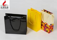 hot sale flower print paper shopping bag